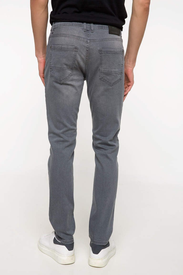 DeFacto Gri Erkek Sergio Regular Fit Denim Pantolon 3
