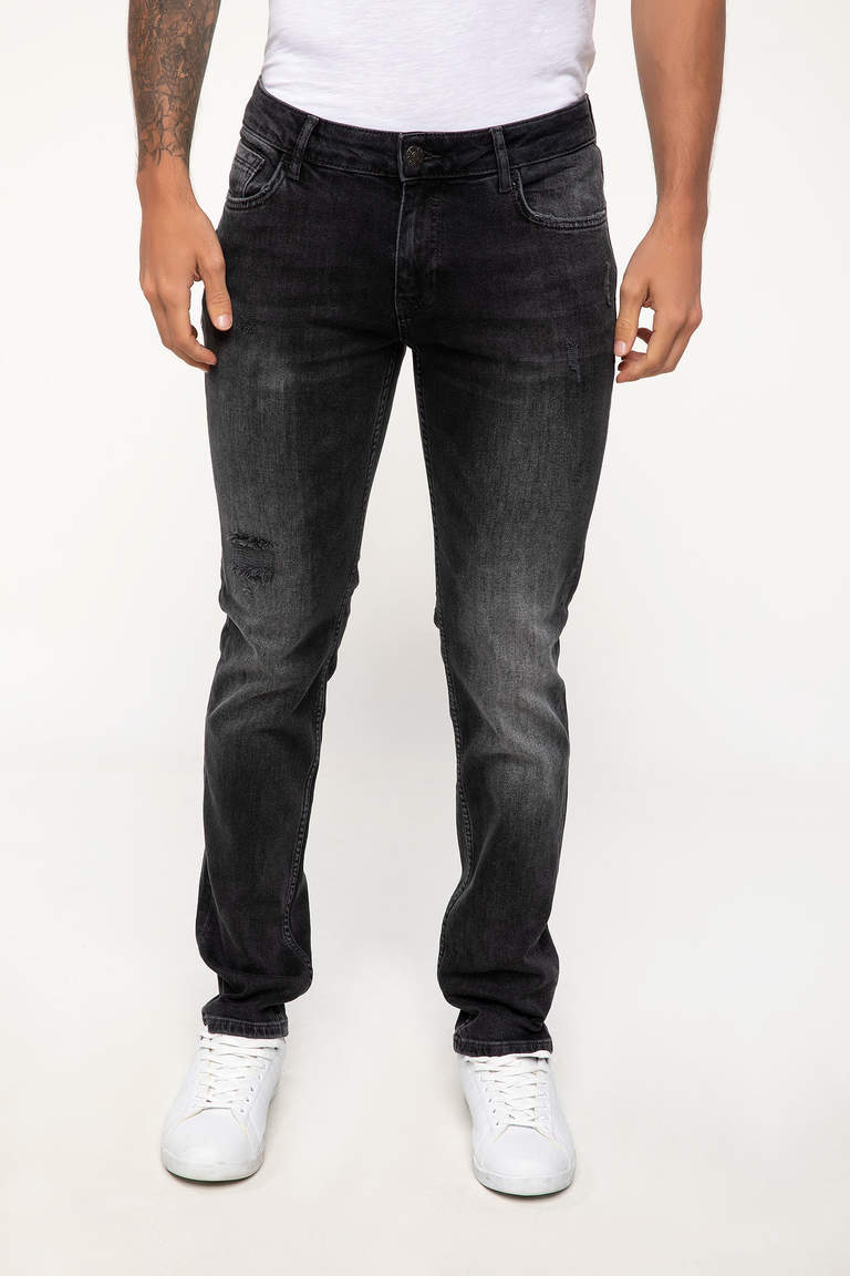 DeFacto Karma 3 Erkek Pedro Slim Fit Denim Pantolon 2