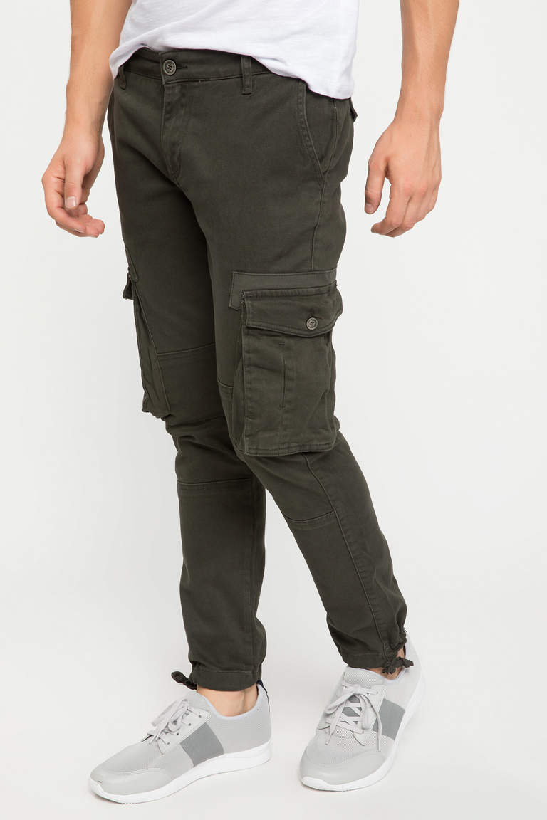 DeFacto Haki Erkek David Cargo Fit Pantolon 2