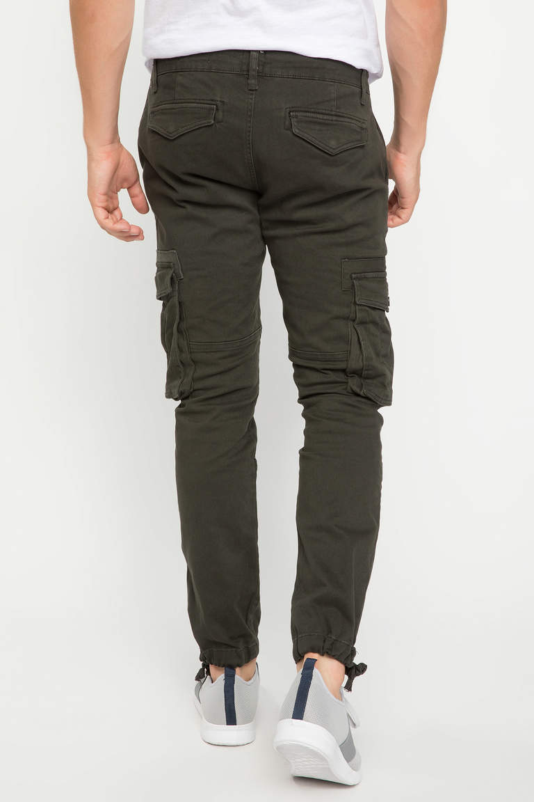 DeFacto Haki Erkek David Cargo Fit Pantolon 3