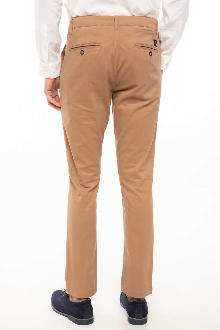 DeFacto Bej Erkek Bruno Slim Fit Chino Pantolon 3