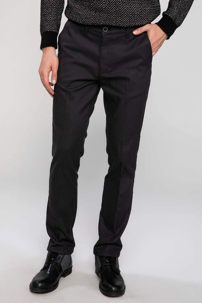 DeFacto Haki Erkek Paco Regular Fit Pantolon 1