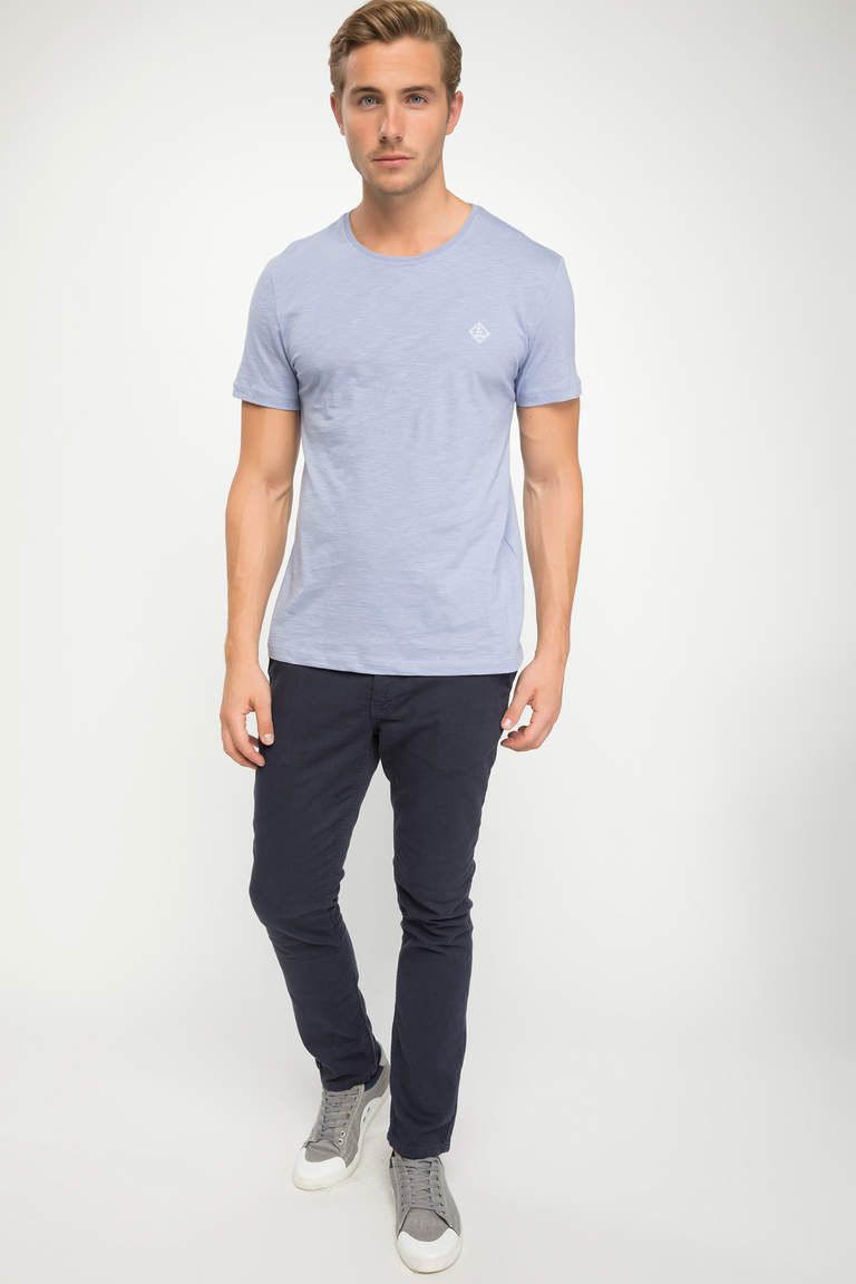 DeFacto Mor Erkek Basic Slim Fit T-shirt 2