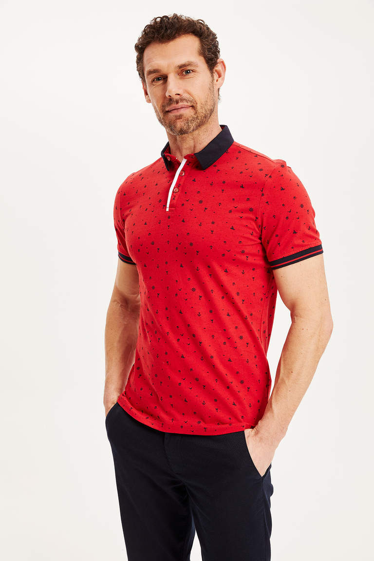 Slim Fit Kısa Kollu Polo T-shirt