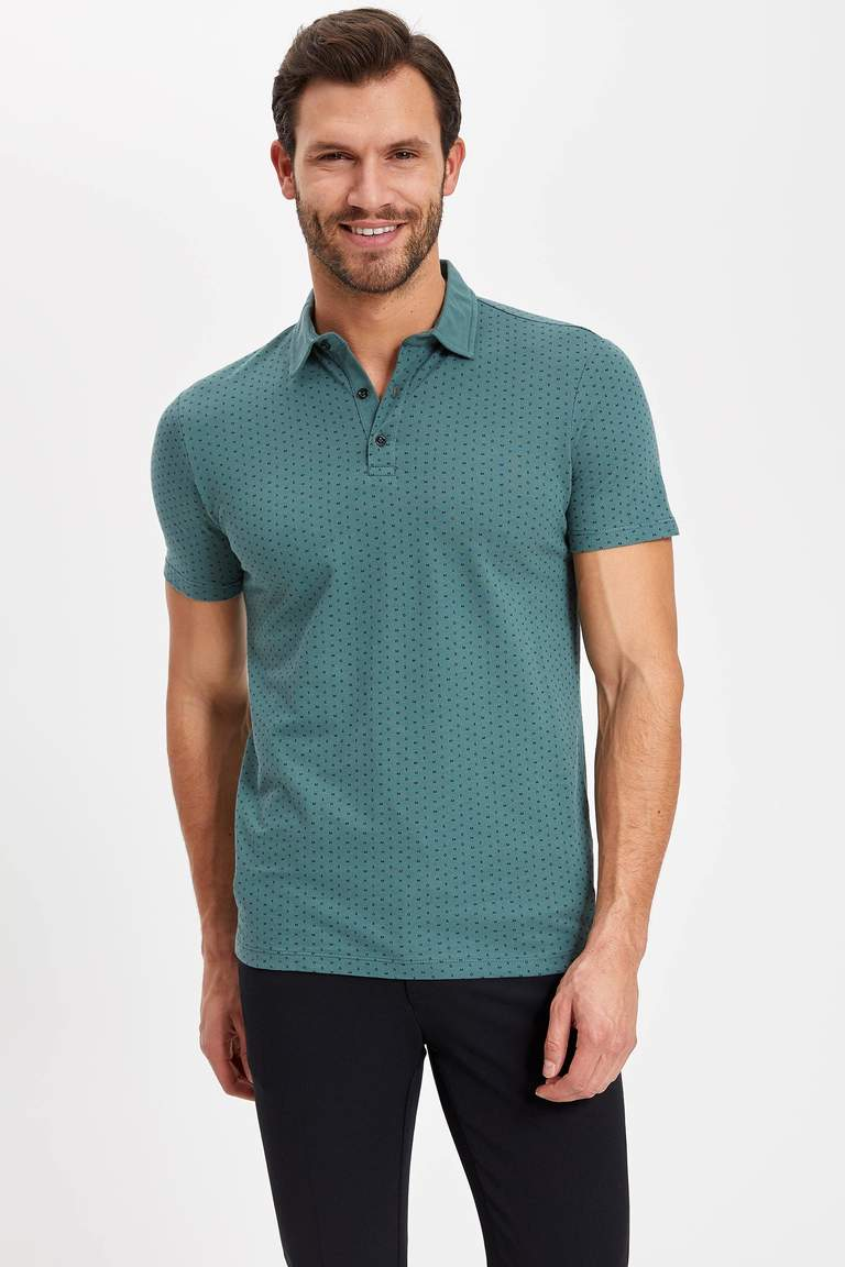 Polo Yaka Slim Fit Pamuklu Tişört