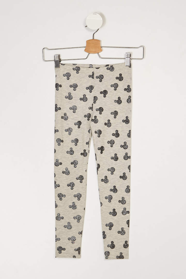 Mickey Mouse Lisanslı Skinny Fit Pantolon