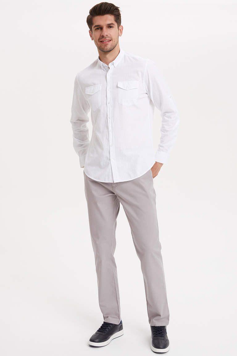 Casual Relax Fit Chino Pantolon