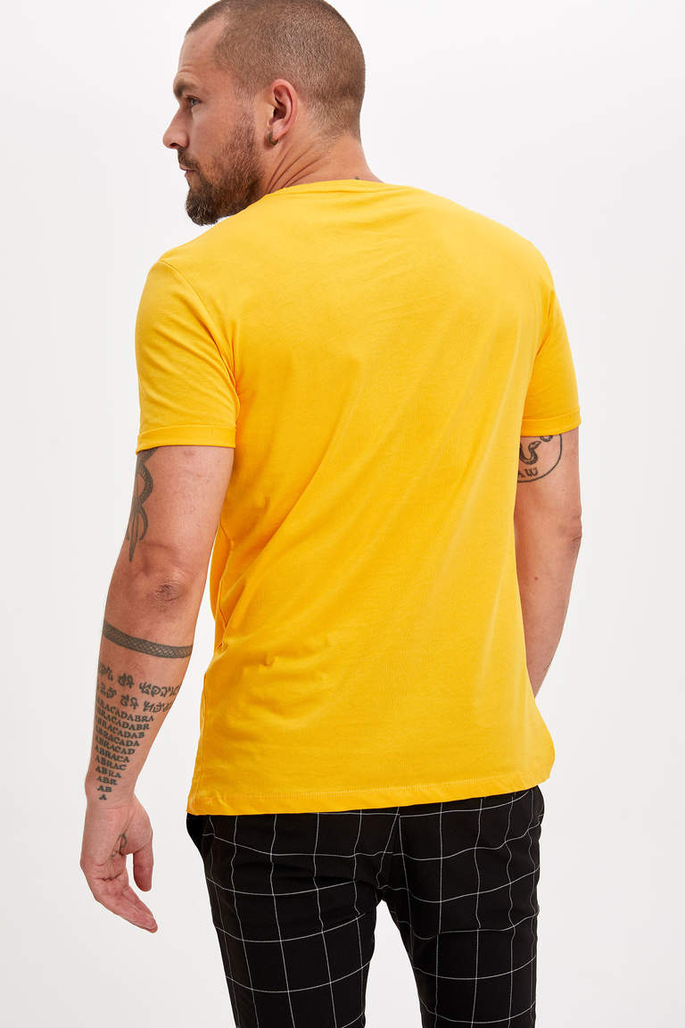 Slim Fit Baskılı T-Shirt