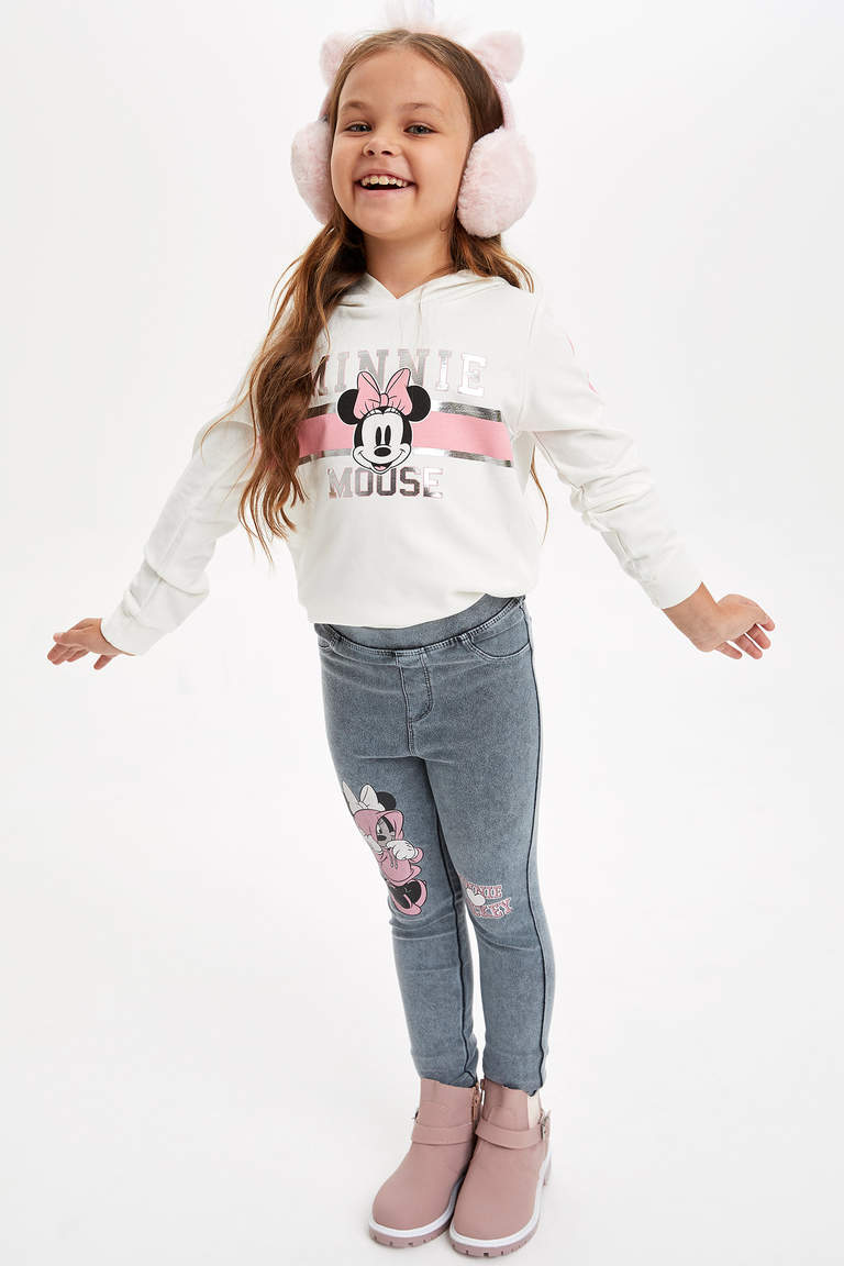 Mickey Mouse Lisanslı Slim Fit Tayt