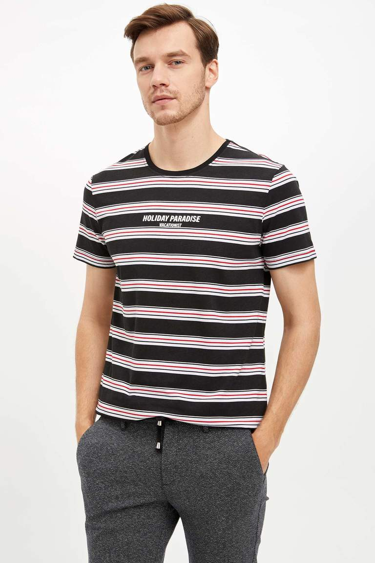 Çizgili Slim Fit T-shirt