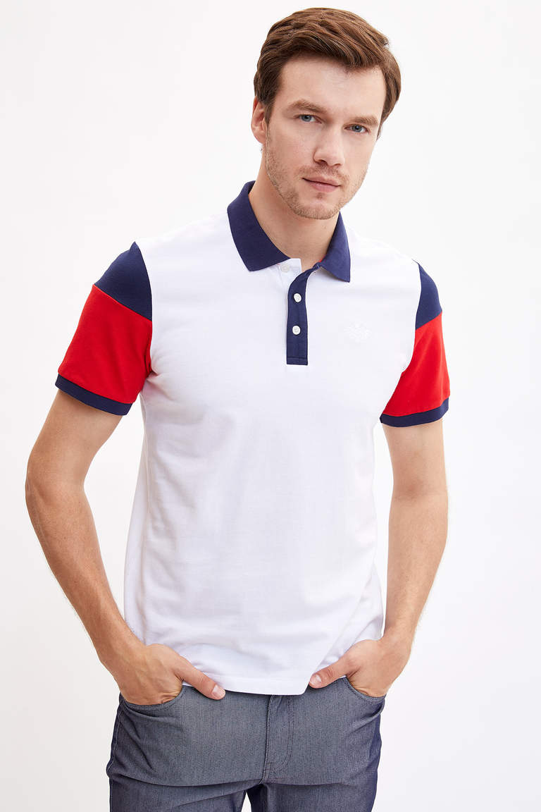 Polo Yaka Regular Fit Pamuklu Tişört