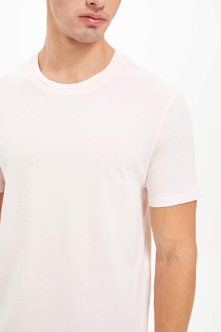 Bisiklet Yaka Regular Fit Basic T-Shirt