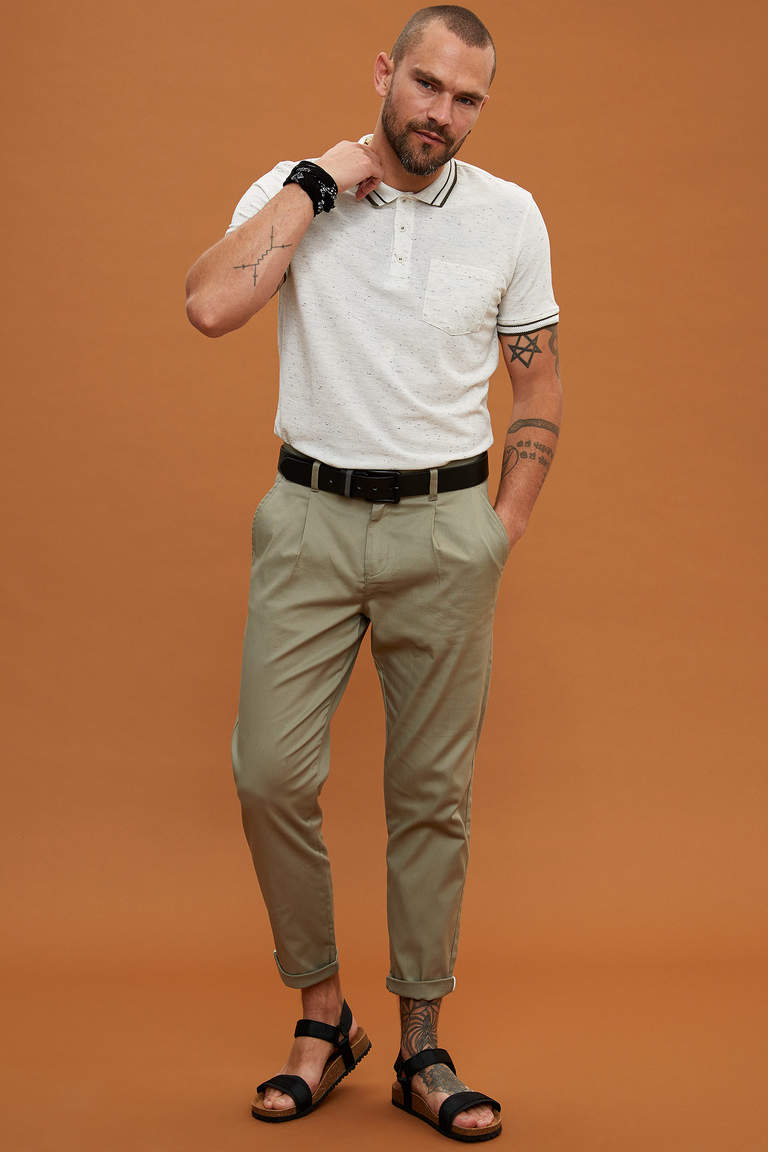 Casual Tapered Fit Chino Pantolon