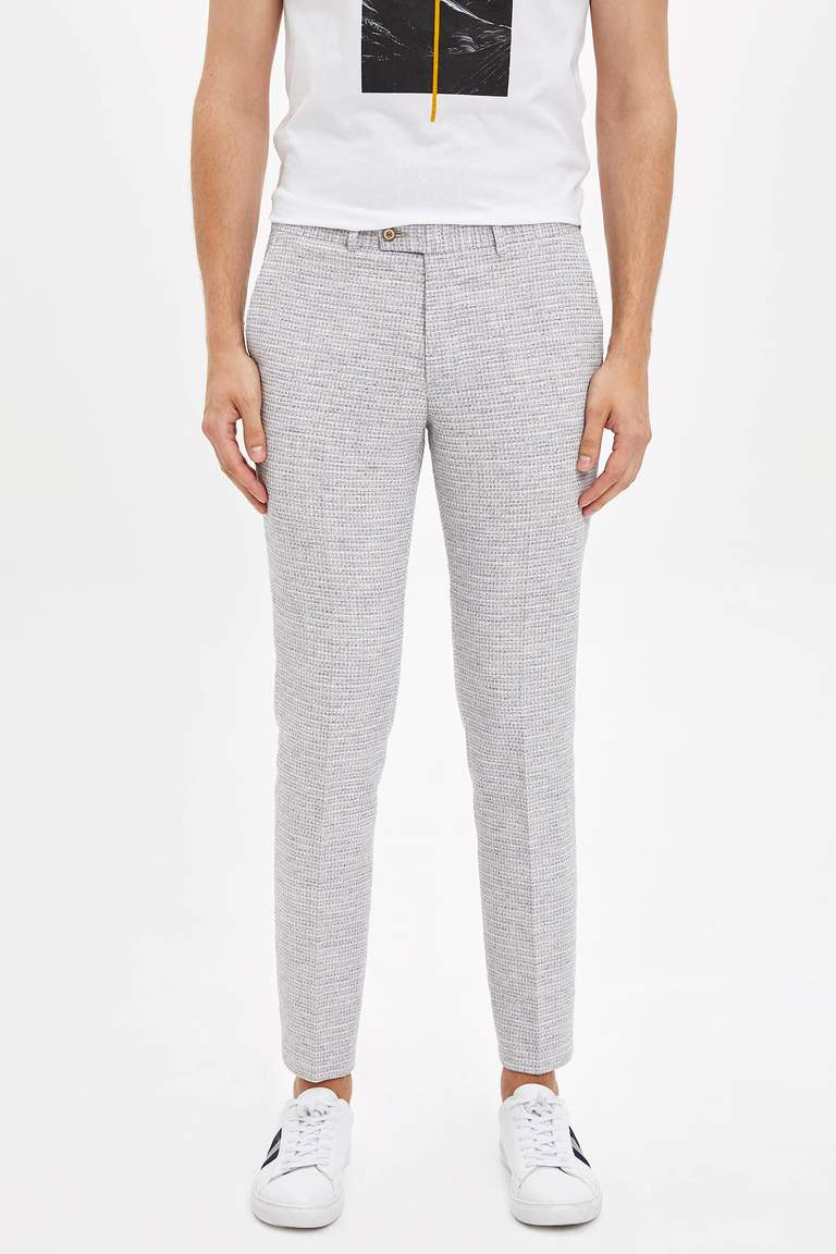 Slim Fit Örme Pantolon