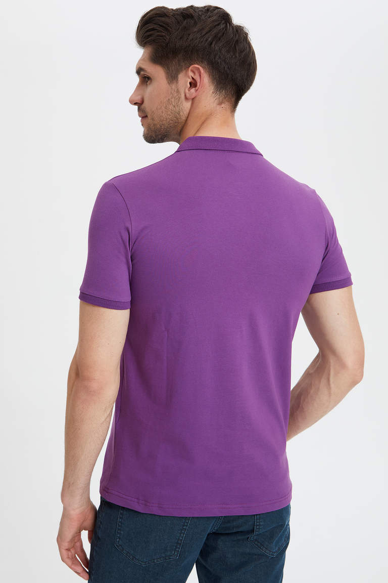Polo Yaka Slim Fit Basic T-Shirt
