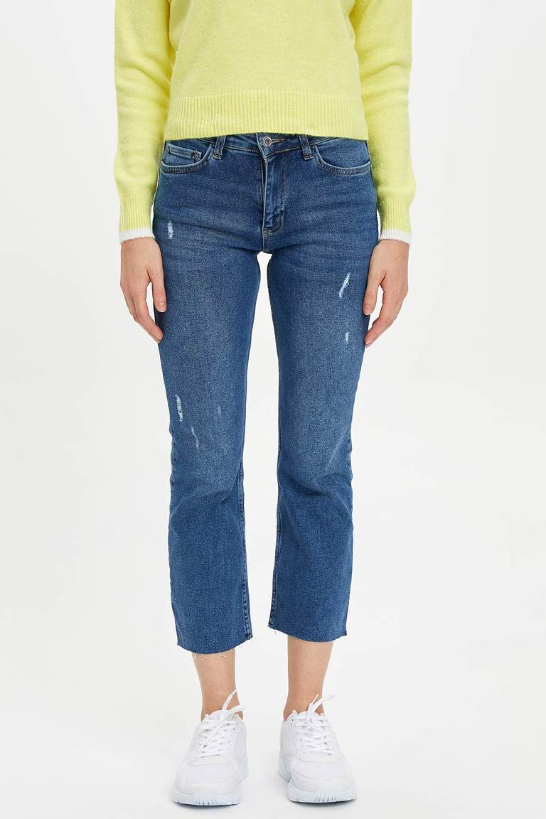 Kick Flare Fit Jean Pantolon