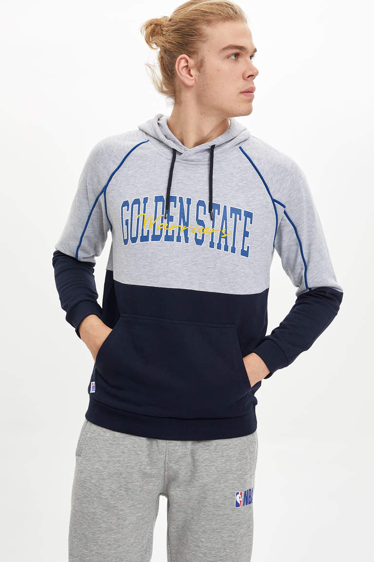 Golden State Lisanslı Slim Fit Sweatshirt