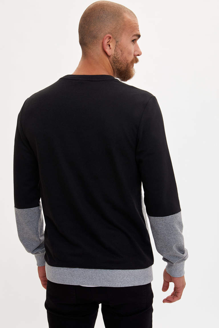 Baskılı Slim Fit Sweatshirt