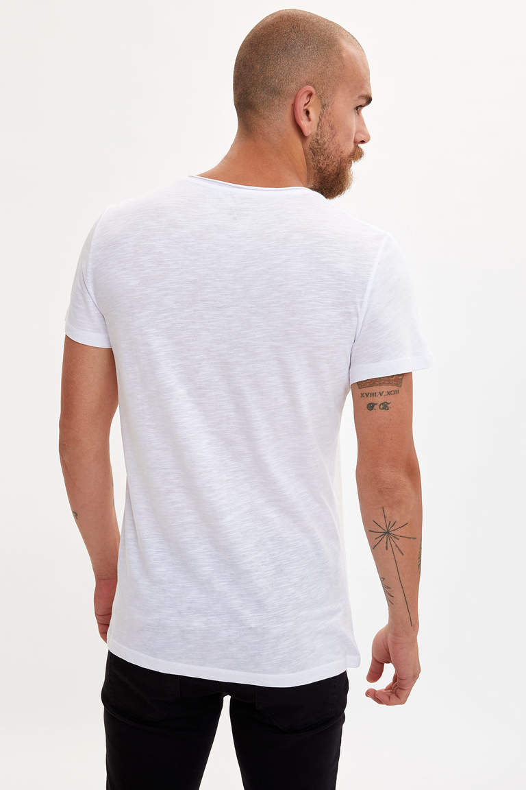 Baskılı Slim Fit T-shirt
