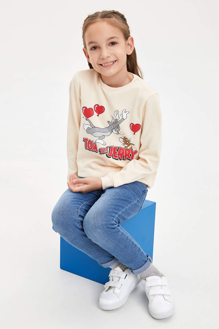 Tom & Jerry Lisanslı Sweatshirt