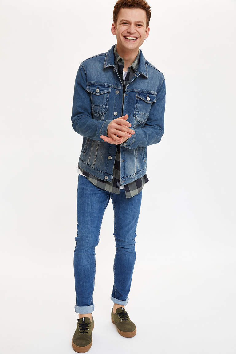 Basic Slim Fit Jean Ceket