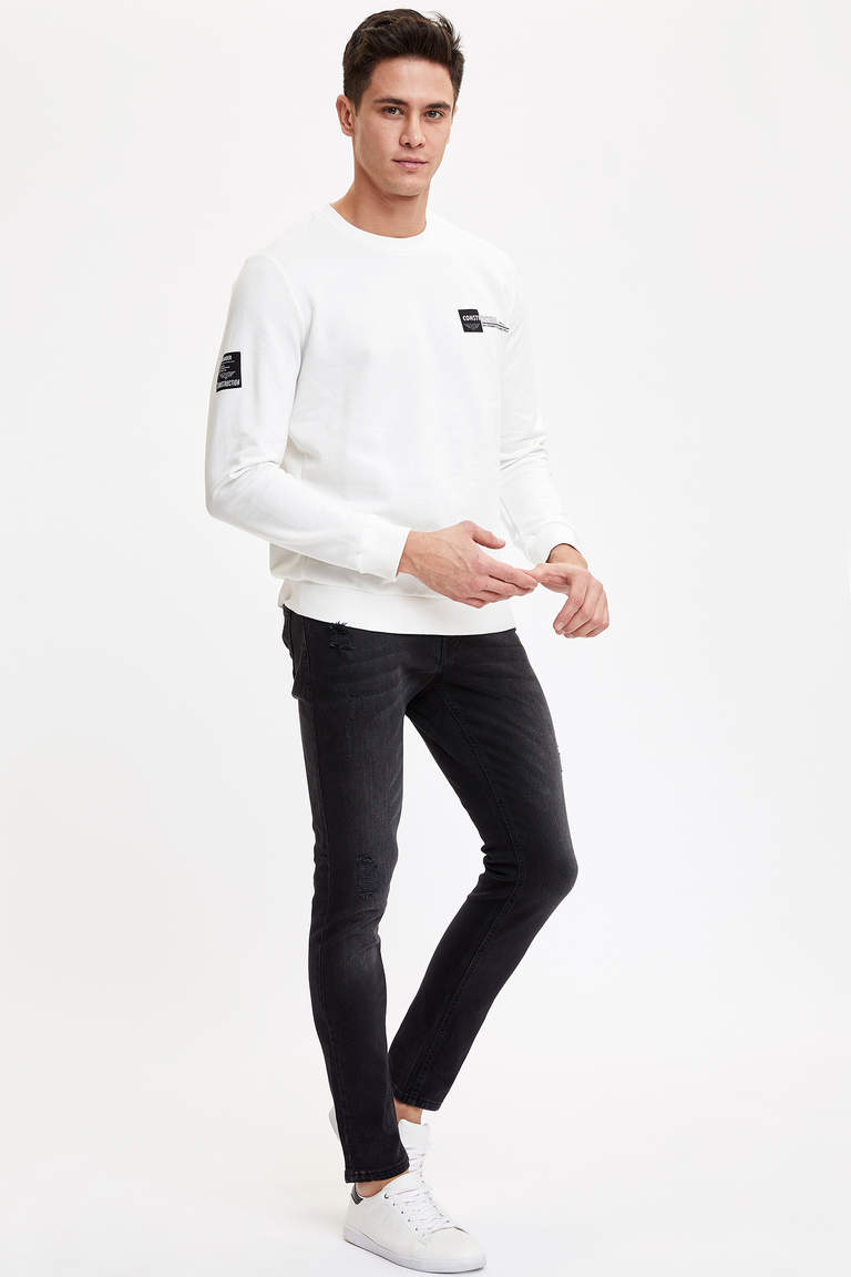 Baskılı Regular Fit Sweatshirt