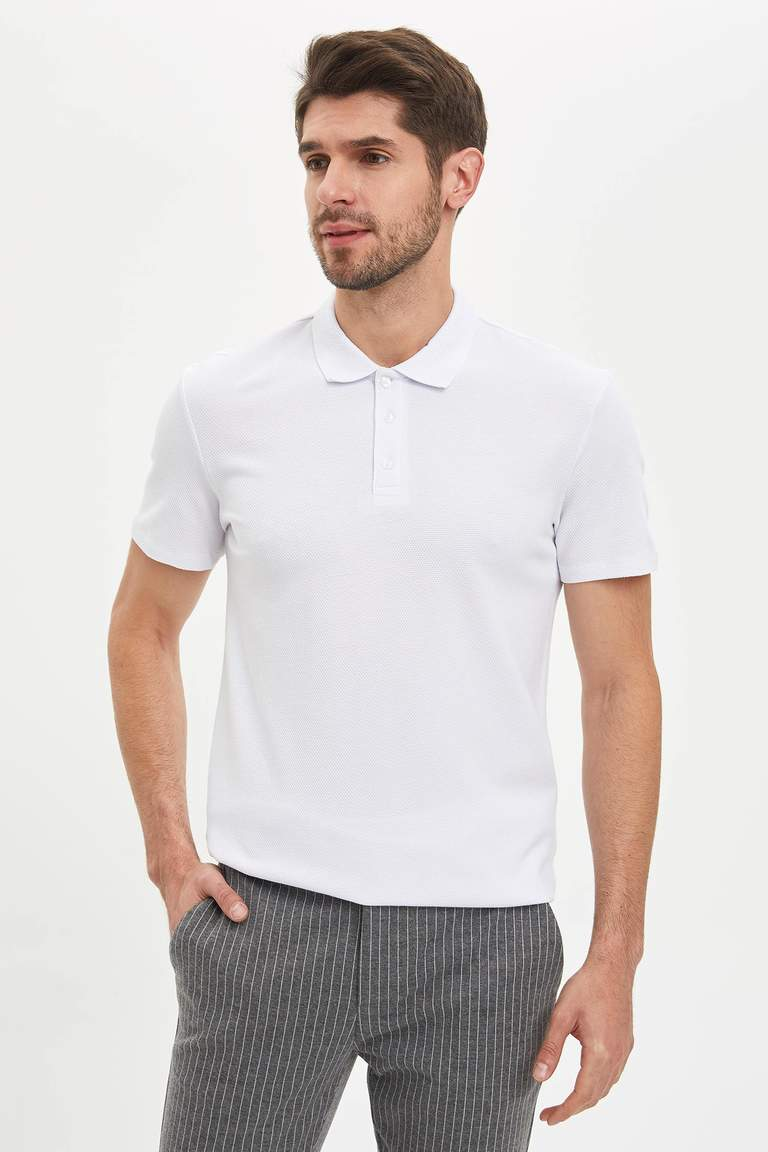 Polo Yaka Slim Fit Basic Tişört