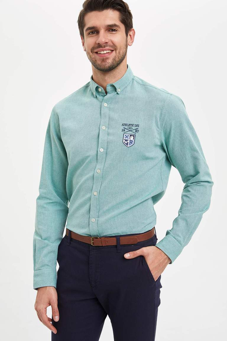 Slim Fit Oxford Gömlek