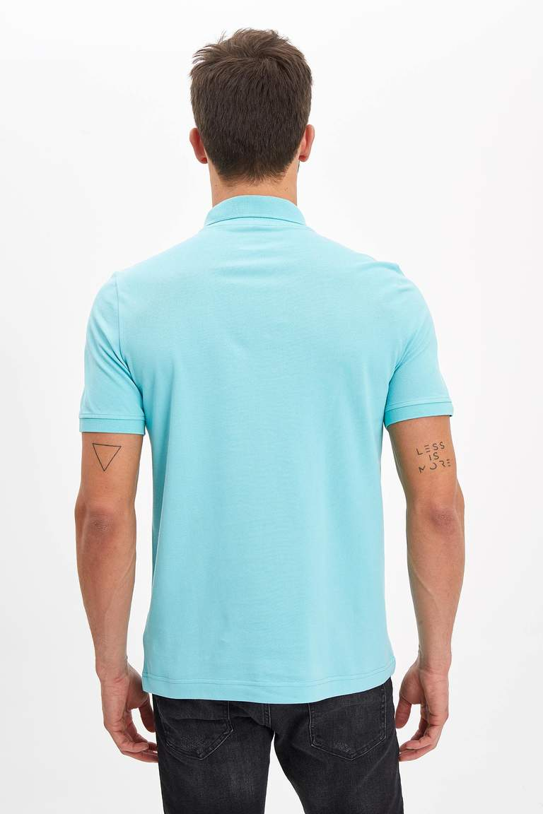 Polo Yaka Regular Fit Basic Pamuklu Tişört