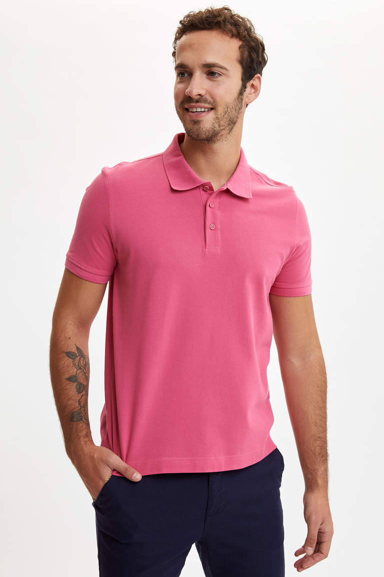 Polo Yaka Regular Fit Basic Tişört
