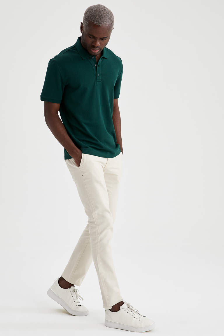Regular Fit Polo Yaka Basic Tişört