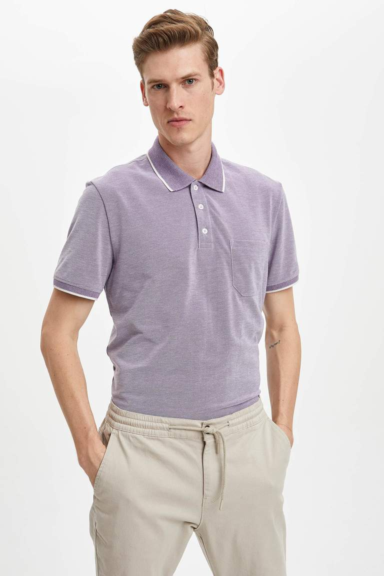 Regular Fit Polo Yaka Cepli Kısa Kollu Tişört