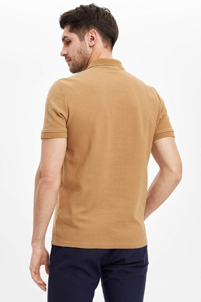 Polo Yaka Kısa Kollu Regular Fit Basic Tişört
