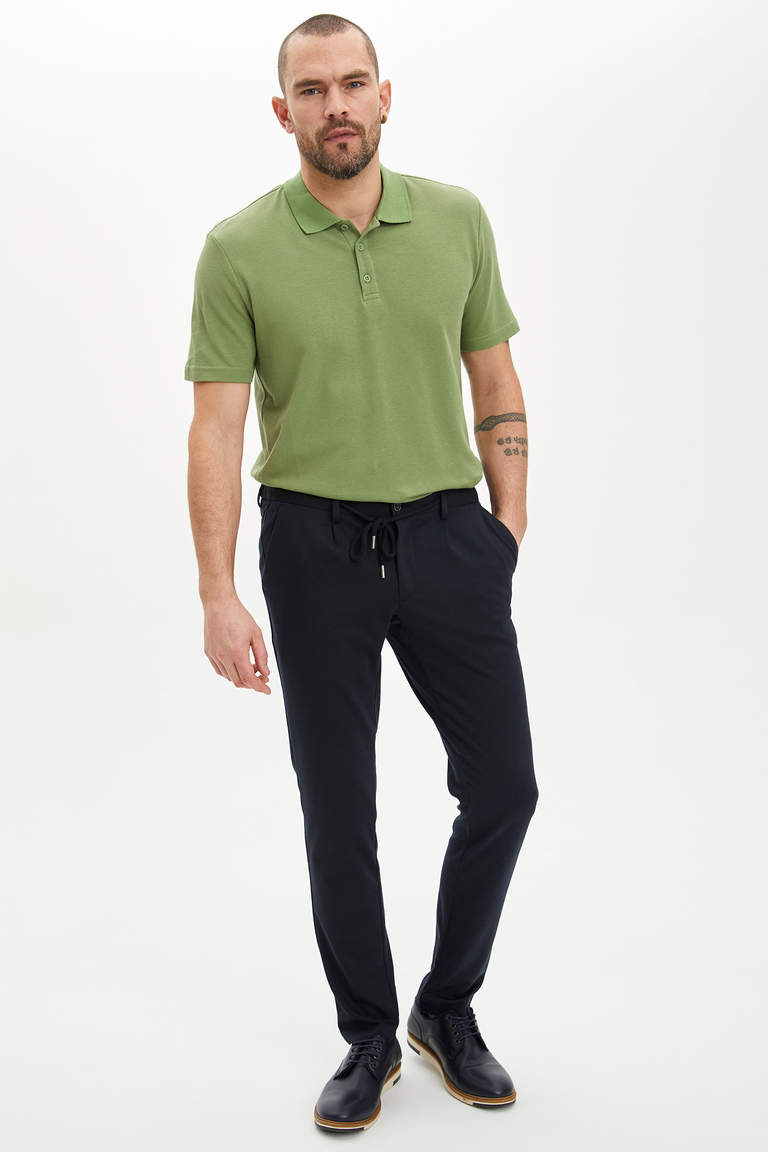 Slim Fit Basic Polo Tişört