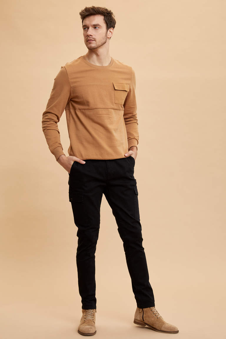 Cep Detaylı Regular Fit Sweatshirt