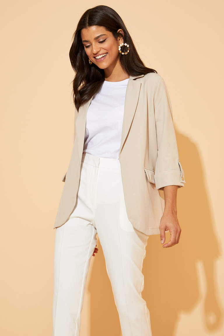Regular Fit Basic Blazer Ceket