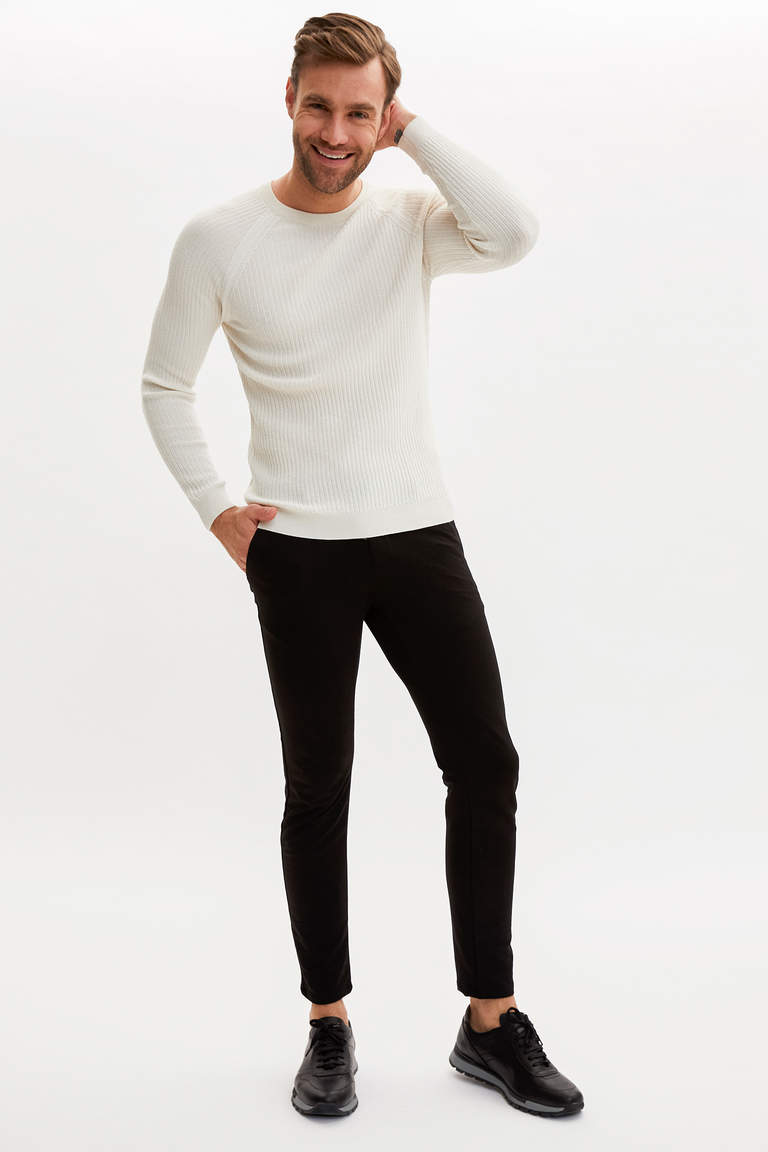 Slim Fit Reglan Kol Kazak