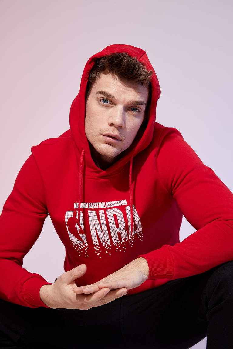 NBA Lisanslı Slim Fit Sweatshirt
