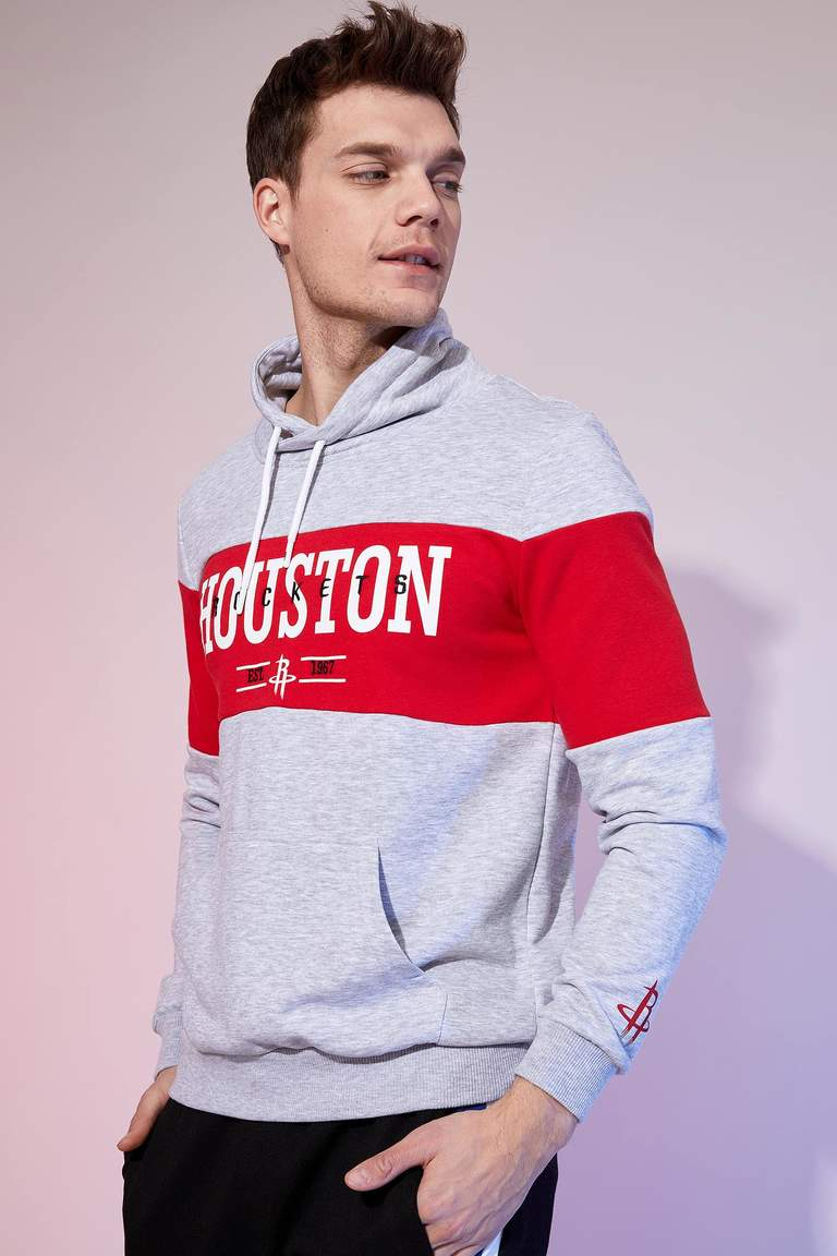 Nba Lisanslı Slim Fit Kapüşonlu Sweatshirt
