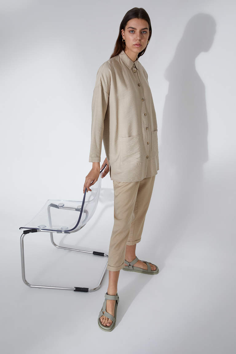Regular Fit Dokuma Tunik