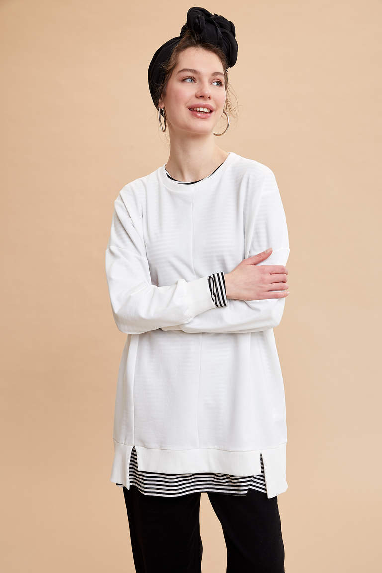 Relax Fit Basic Sweat Tunik