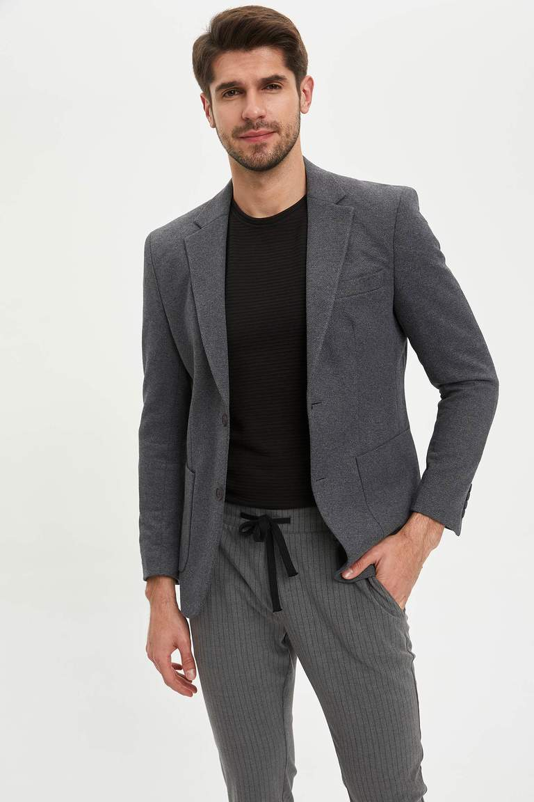 Basic Slim Fit Blazer Ceket