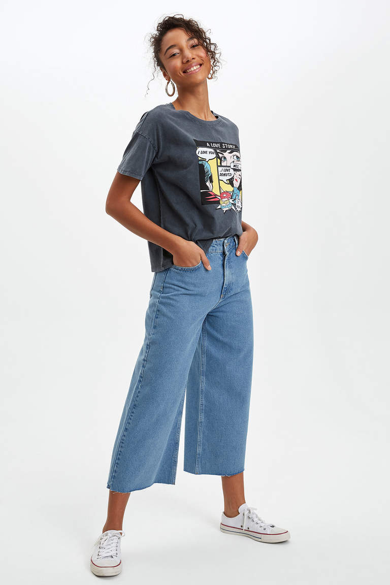 Culotte Fit Jean Pantolon