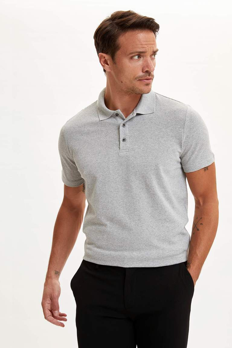 Polo Yaka Kısa Kollu Regular Fit Tişört