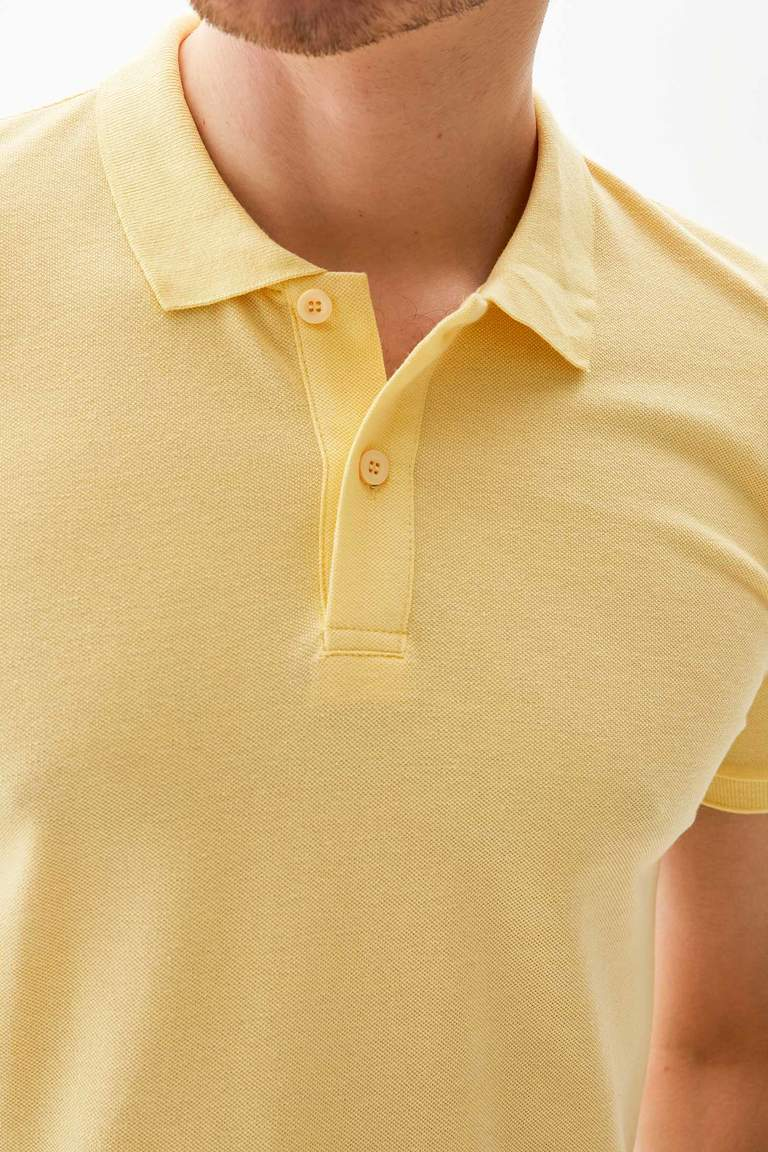 Polo Yaka Regular Fit Basic Pike Tişört