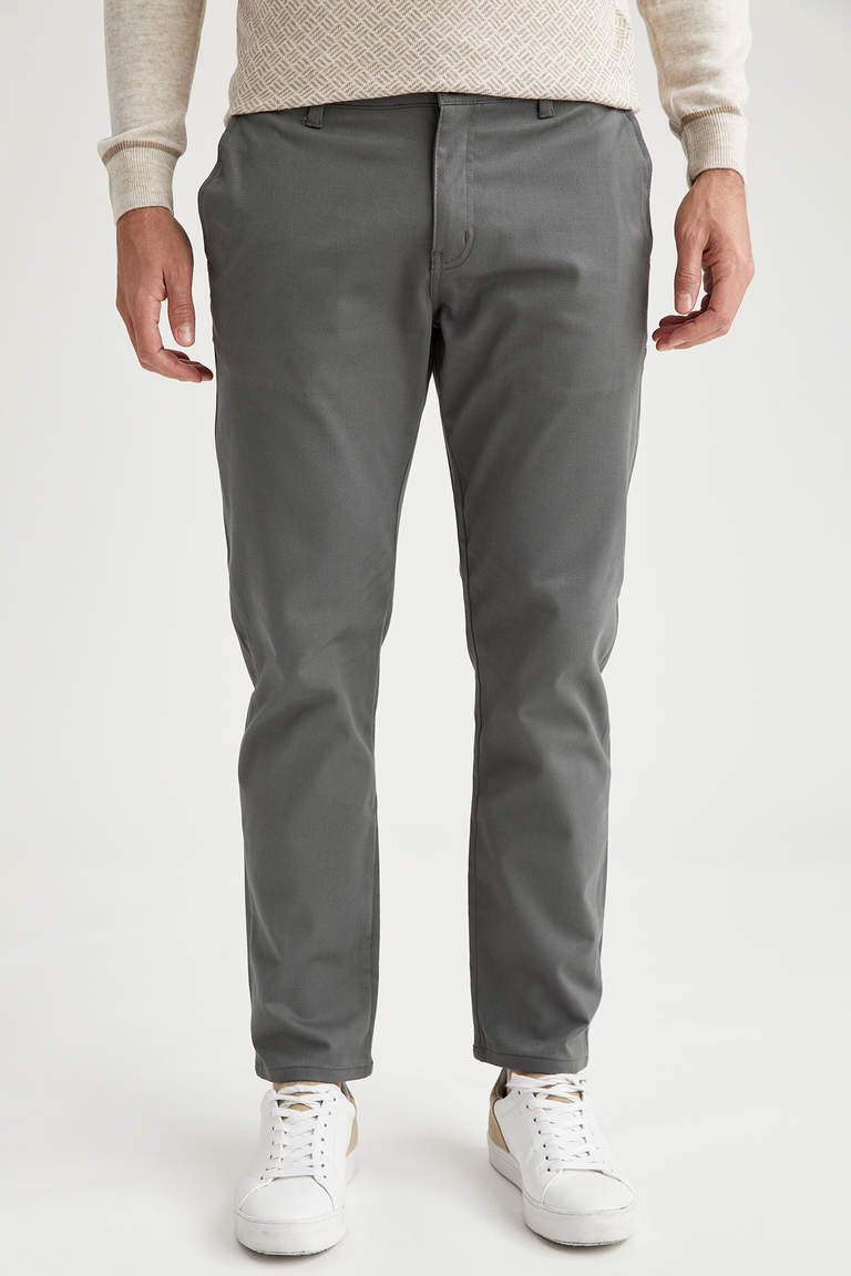 Regular Fit Basic Pamuklu Chino Pantolon