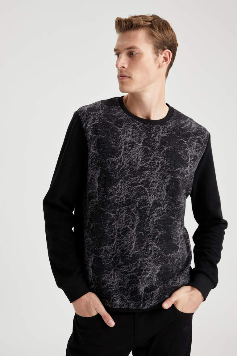 Regular Fit Bisiklet Yaka Sweatshirt