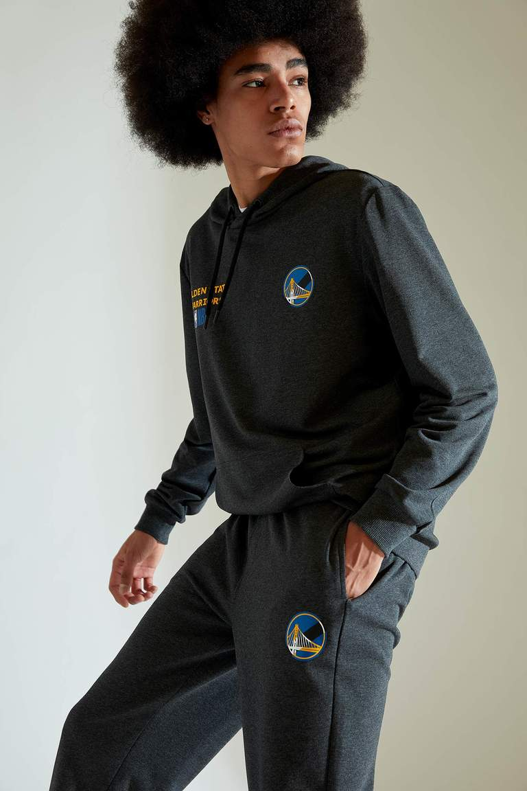 NBA Lisanslı Unisex Regular Fit Kapüşonlu Sweatshirt