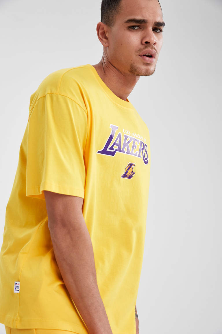 NBA Los Angeles Lakers Lisanslı Oversize Pamuklu Tişört