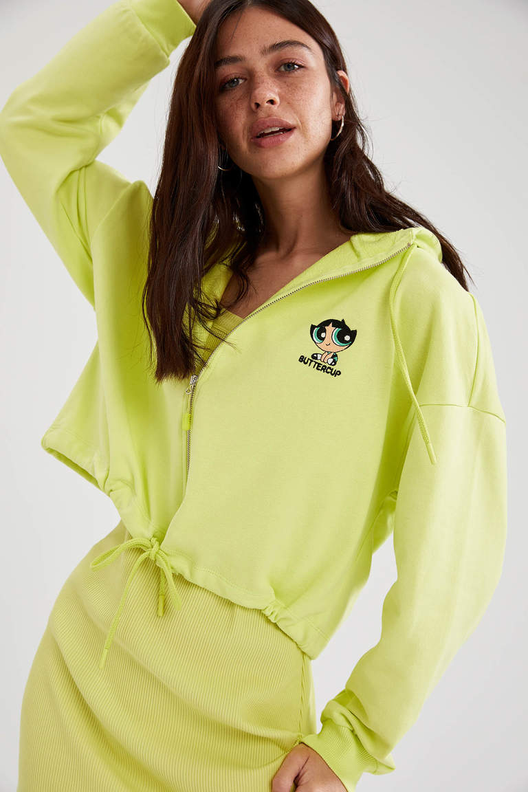 Coool Powerpuff Girls Lisanslı Kapüşonlu Sweat Hırka